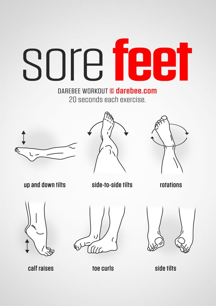 Sore Feet workout.