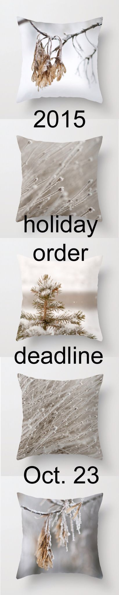 Winter Decor pillow covers. Get yours in time to decorate for Christmas!