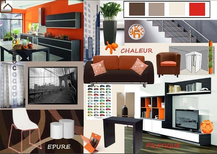 Les 8 meilleures images du tableau planches d 39 ambiance sur for Salle a manger orange