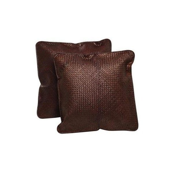 NOVICA Dark Brown Cushion Covers Woven from Pandan Leaves (Pair) (475 ZAR) ❤ liked on Polyvore featuring home, home decor, throw pillows, brown, cushion covers, pillows & throws, woven throw pillows, set of 2 throw pillows, novica and dark brown throw pillows