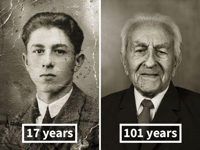 Antes e Agora: As mesmas pessoas fotografadas em sua juventude e décadas depois