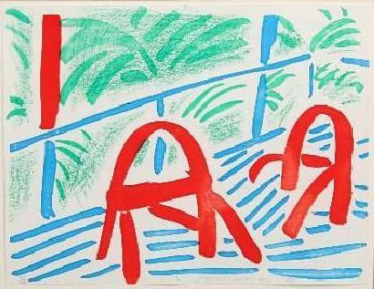 David Hockney 'Two Red Chairs March 1986', homemade print (1986)