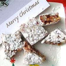 Christmas Delight - An old-fashioned, chewy candy filled with dried fruit and nuts.