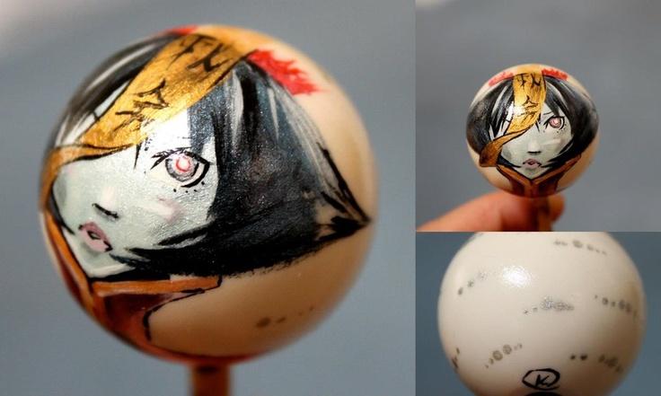 Hisen Ko (Lei Lei) Arcade Stick Balltop, from Darkstalkers ~ Vampire Savior, by *GandaKris (found in: http://gandakris.deviantart.com/art/Hisen-Ko-Balltop-339219379)
