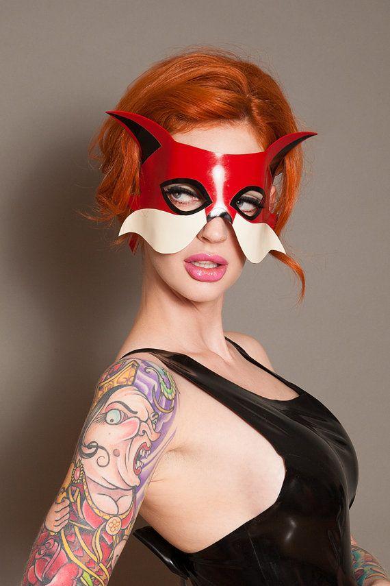 Halloween SALE Latex Fox masquerade mask by abigailgreydanus, $45.00