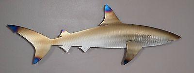 Recife de metal Tubarão, Peixe, Casa De Praia, Arte, Parede, decoração de casa, Mar, Vida Marinha, Coral