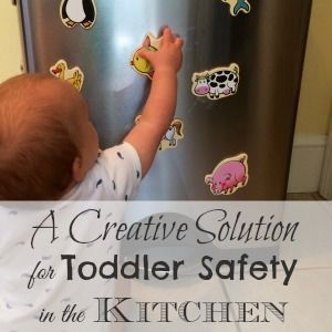 This is the best way to keep your baby out of your way while you're cooking - and they'll love it!!