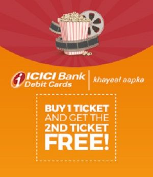 """BookMyShowis offering Buy 1 ticket and get the 2nd ticket FREE! How to catch the offer: Click here for offer page Select Movie Enter email id & Mobile Number Go to """"Credit/ Debit/ Net Banking.' Select 'ICICI Buy 1 Get 1 Offer – Debit' payment option Enter the required details Make Final Payment"""