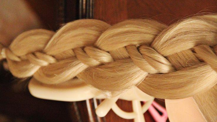 Коса из 4 прядей с двойным жгутом
