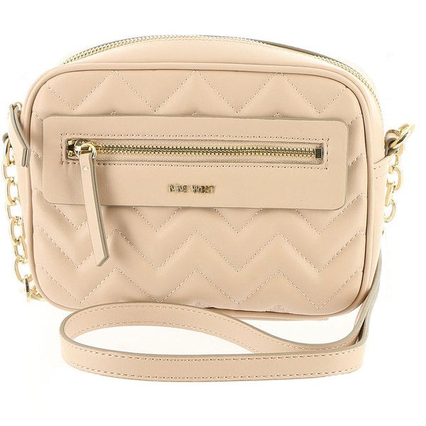 Nine West Nicolina Crossbody Bag Tan Bags (905 MXN) ❤ liked on Polyvore featuring bags, handbags, shoulder bags, tan, beige shoulder bag, tan handbags, chain shoulder bag, nine west crossbody and beige purse