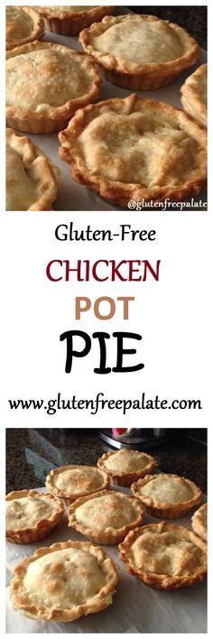 A delicious Gluten-Free Chicken Pot Pie made from scratch using chicken…