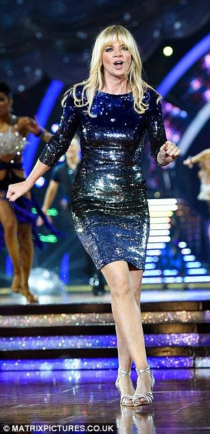 She's back! Television presenter Zoe Ball pictured on opening night of the Strictly Come Dancing Live Tour at Birmingham's National Indoor Arena on Friday