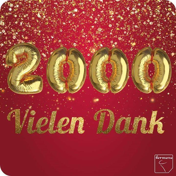 Jippieeee!  Wir haben 2000 Follower auf Facebook!  Vielen Dank an euch alle!  #formano #celebration #2000 #followerpower   Schaut morgen unbedingt bei uns vorbei dann gibt es ein kleines Dankeschön für fünf von euch!  #gewinnspiel #giveaway #weihnachten #vorfreude