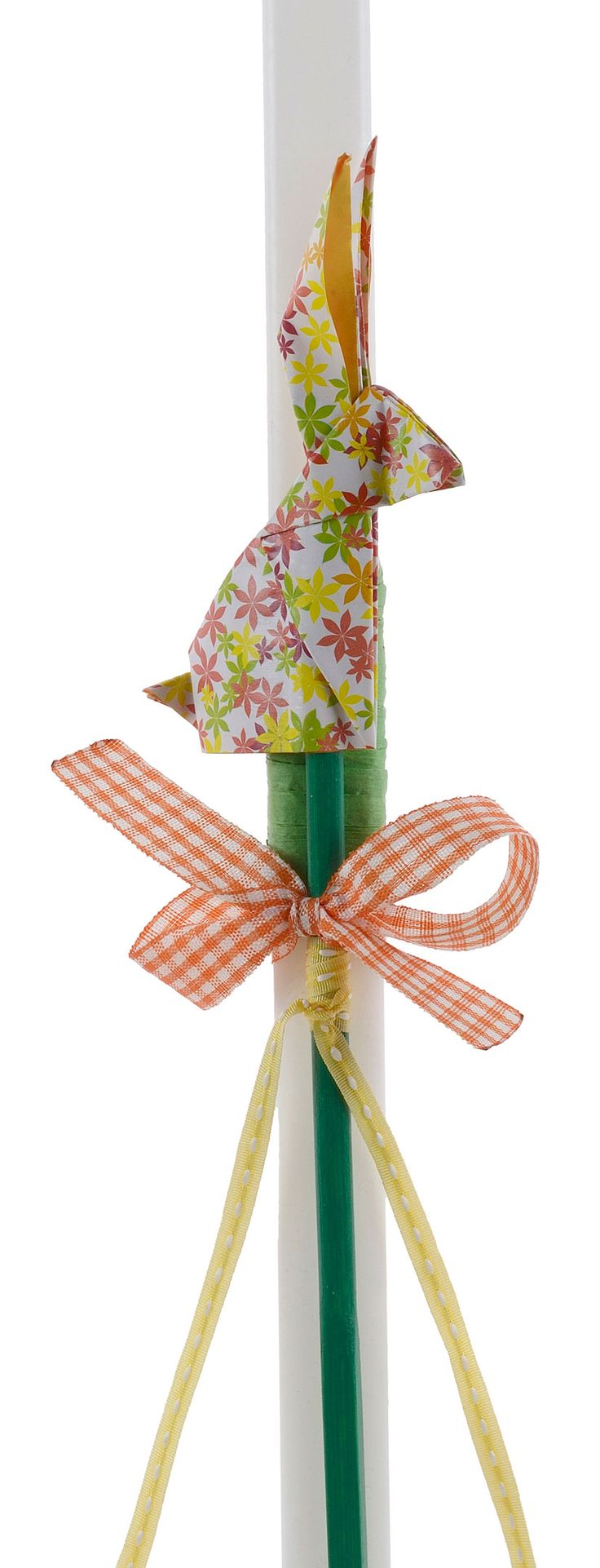 Origami - Easter Candle with origami creations, created by Katerina Christoforidi.
