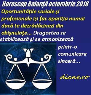 diane.ro: Horoscop Balanţă octombrie 2016