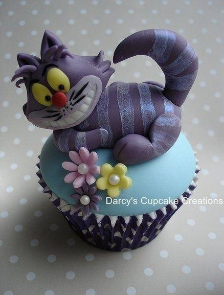 *CHESHIRE CAT Cupcake! LOVE THIS!