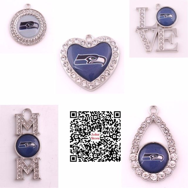 Hot Selling Football Team Logo Seahawks Charms Collections