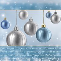 Kerstkaart 'Grijze & blauwe kerstballen'  http://kerstkaarten.cardsandcards.nl/welkom/