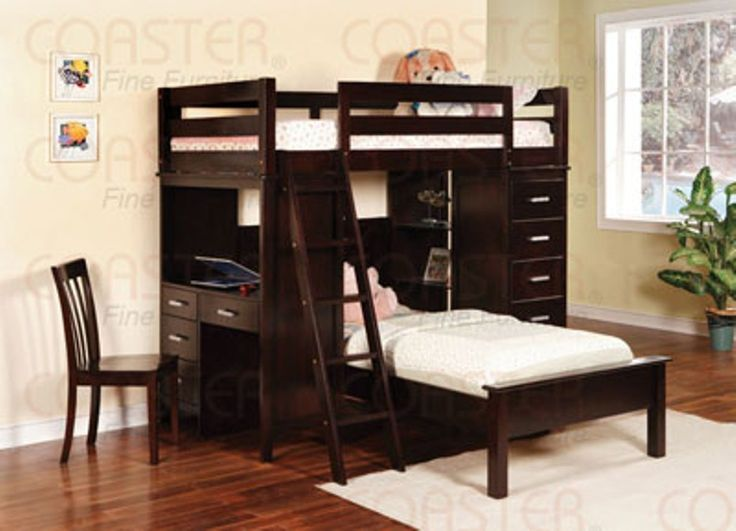 Best 25+ Bunk bed with futon ideas on Pinterest   Elevated desk ...