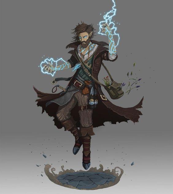 [Art] Half-elf Storm Sorcerer : DnD