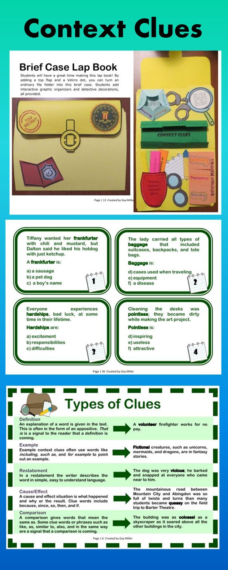 Worksheet 5 Context Clues 1000 images about context clues on pinterest examples figurative language and activity