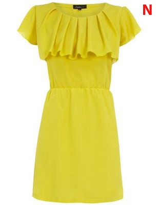 yellow ruffle dress - collect 30 nectar points when you buy