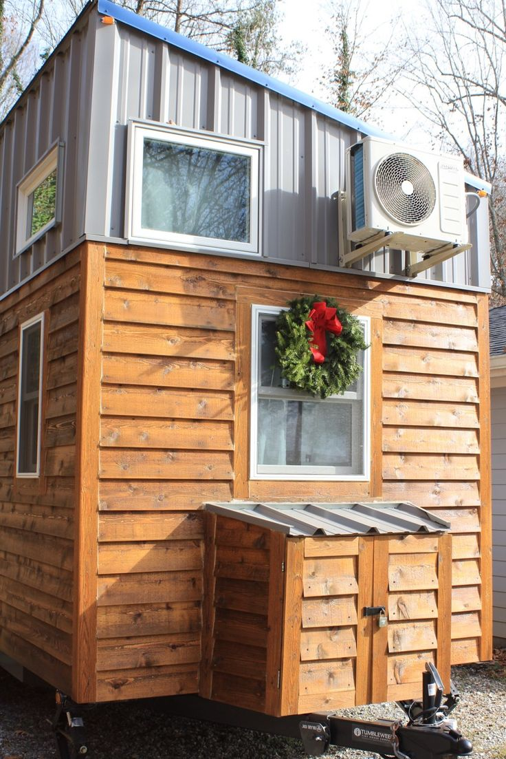 This is a 300 sq. ft. modern tiny house on wheels in Knoxville,
