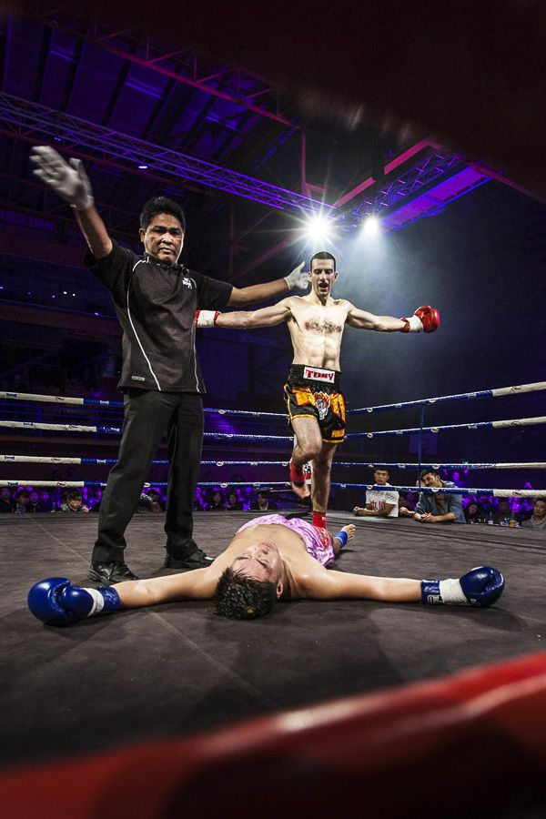 KO'd in the first round. Muy Thai fight, Auckland New Zealand 2012