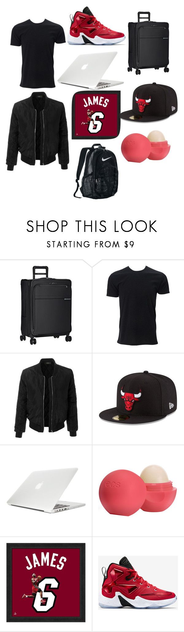 """out of town 💼✌😎🔫📟"" by masonjonesjr333 ❤ liked on Polyvore featuring Briggs & Riley, LE3NO, New Era, Moshi, Eos, SO, NIKE, men's fashion and menswear"