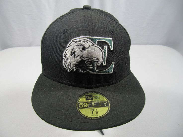 59FIFTY New Era Fitted Cap Hat Eastern Michigan University Black Green Sz 7 1/8 #59Fifty #BaseballCap