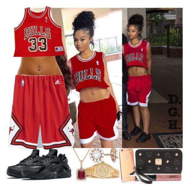 """Chicago Bulls."" by dopegenhope ❤ liked on Polyvore featuring Rolex, Effy Jewelry, adidas, MAC Cosmetics, Champion, Allurez, Goldgenie, NIKE, MCM and love"