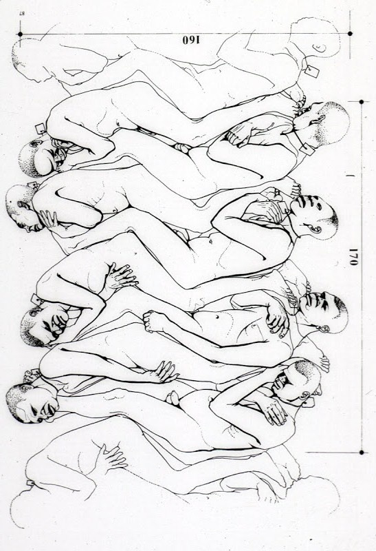 Slave body positions in a slave ship during the Middle Passage