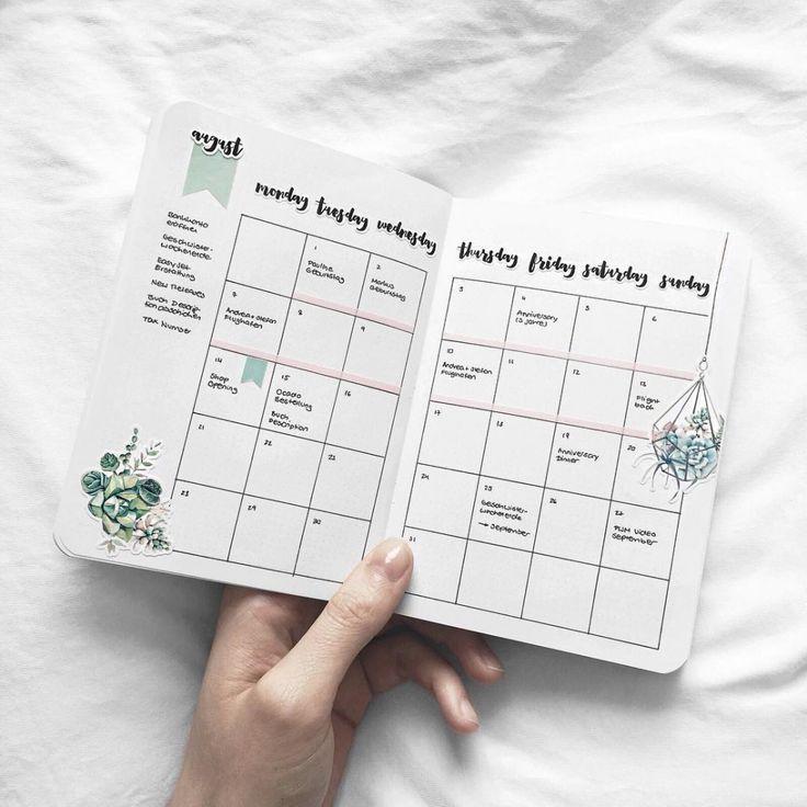 13 Monthly Bullet Journal verbreiten Ideen, die unglaublich kreativ sind