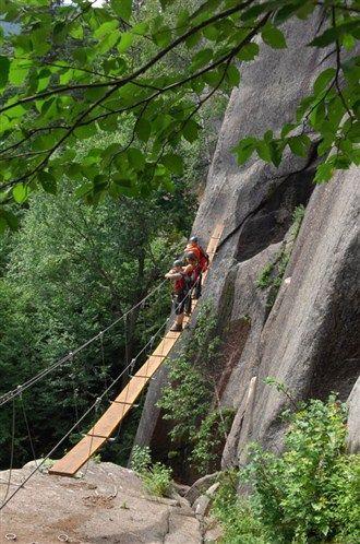 Quebec's Mont-Tremblant National Park attracts rock climbers world-wide. People also flock to walk the infamous Via Ferrata Du Diable. (© Handout)