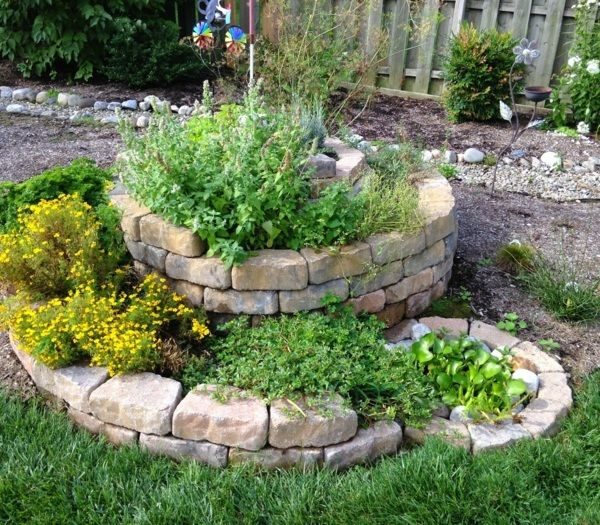 herb spiral natural stones for outside