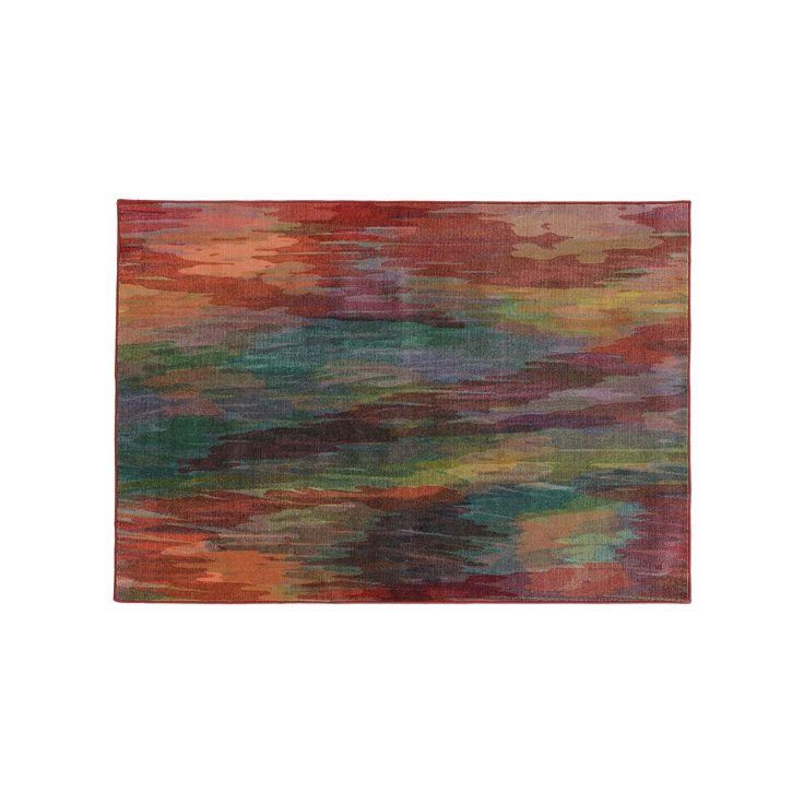 PANTONE UNIVERSE Prismatic Abstract Rug, Red