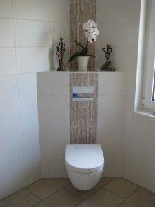 """Waschtischanlage Dusche """"walk in"""" und Handtuchheizkörper WC"""