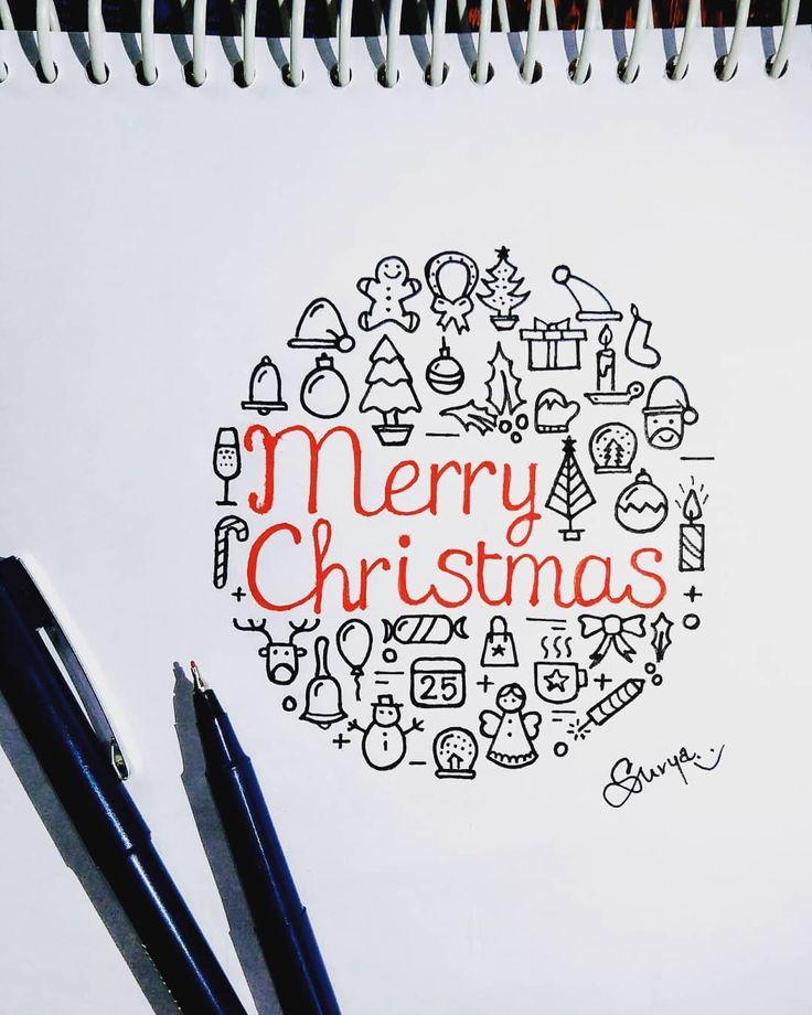 ❄️Merry ☃️Weihnachten ood #christmas #christmasdoodles #christmasdoodle #doodles