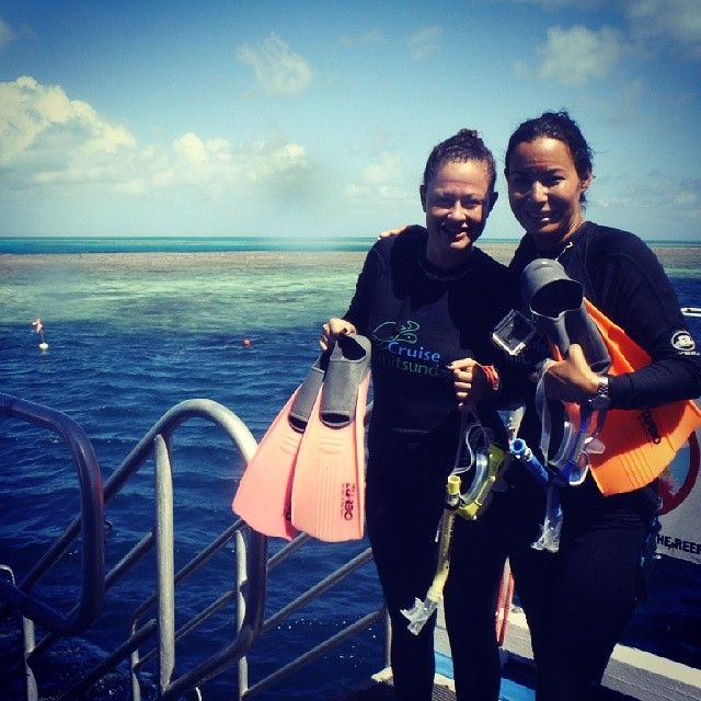 Day at the reef! #greatbarrierreef #snorkelling #stingersuit #sexysuit #besties #reef #ocean #bloodygoodday #fishies #cruisewhitsundays #takemeback