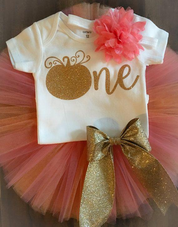 First Birthday Outfit // Pumpkin Birthday by LittlePrincessBottom