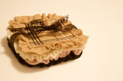 *Giveaway Closed* Tutorial  Giveaway!!- Burberry Inspired Ruffle Coasters