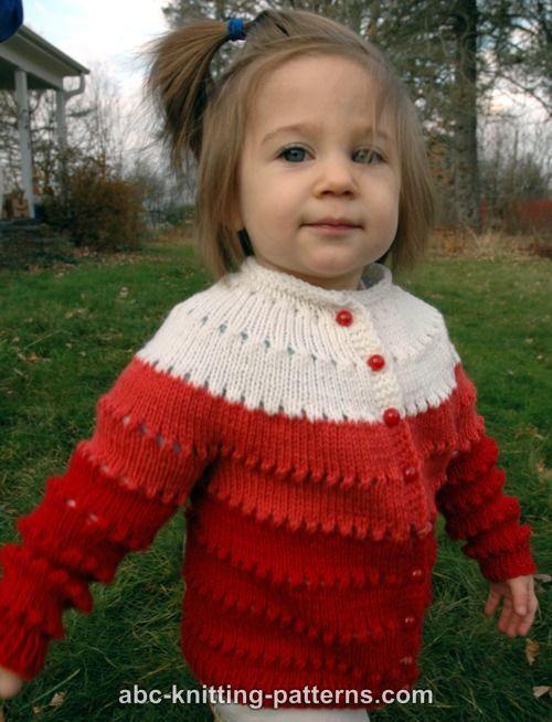 ABC Knitting Patterns - Sweetheart Child's Eyelet Cardigan