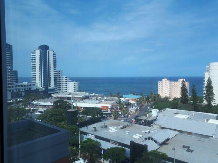 Lovely view of Umhlanga from The Protea Hotel.