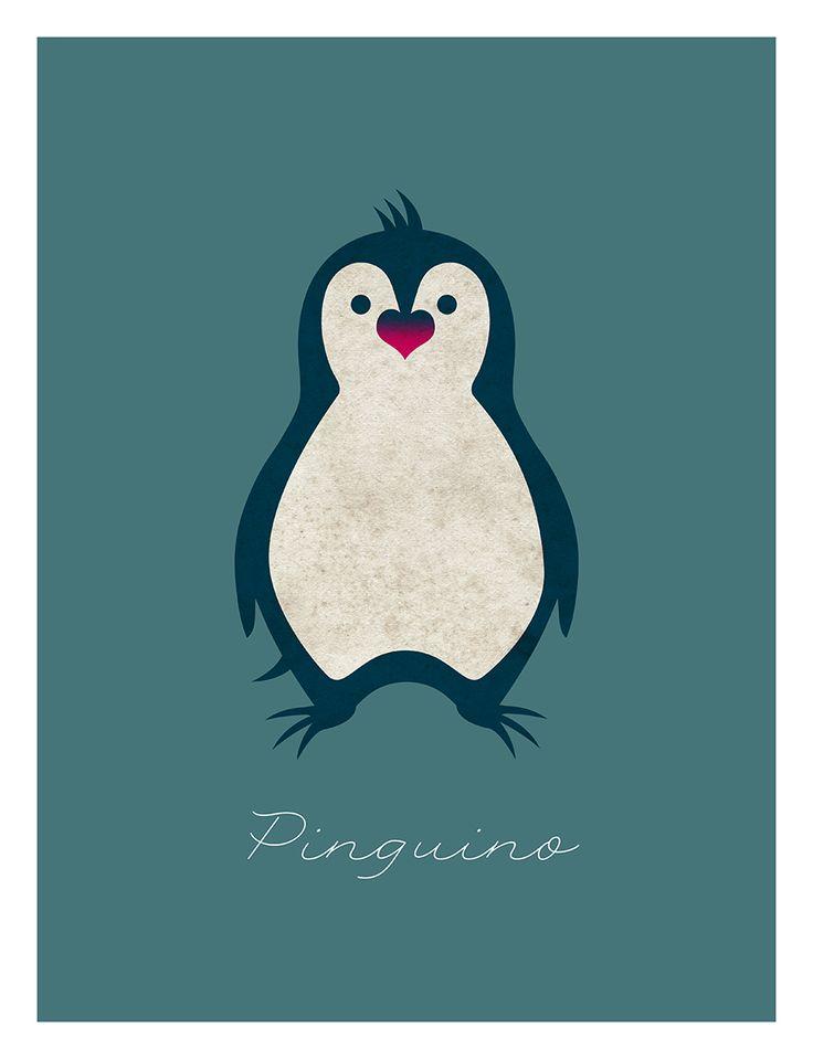 """Illustrazione per il libro """"Morti favolose di animali comuni"""" di Renato Polizzi, Caracò Editore. Versione colorata del Pinguino. Carmine Luino 2014 ©"""