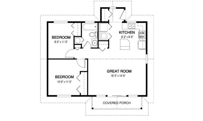 Simple Floor Plan Of A House With Measurements Simple House Plans House Plans Simple Floor Plans