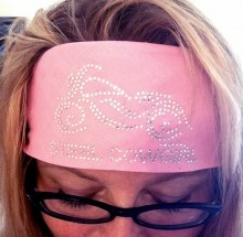 Crystal Bling Motorcycle Bandana Headwrap by Steel Cowgirl