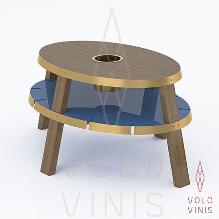 Mesa de centro Lazuli, da Volo Vinis. Design contemporâneo de luxo exclusivo para vinhos disponível em www.volovinis.com