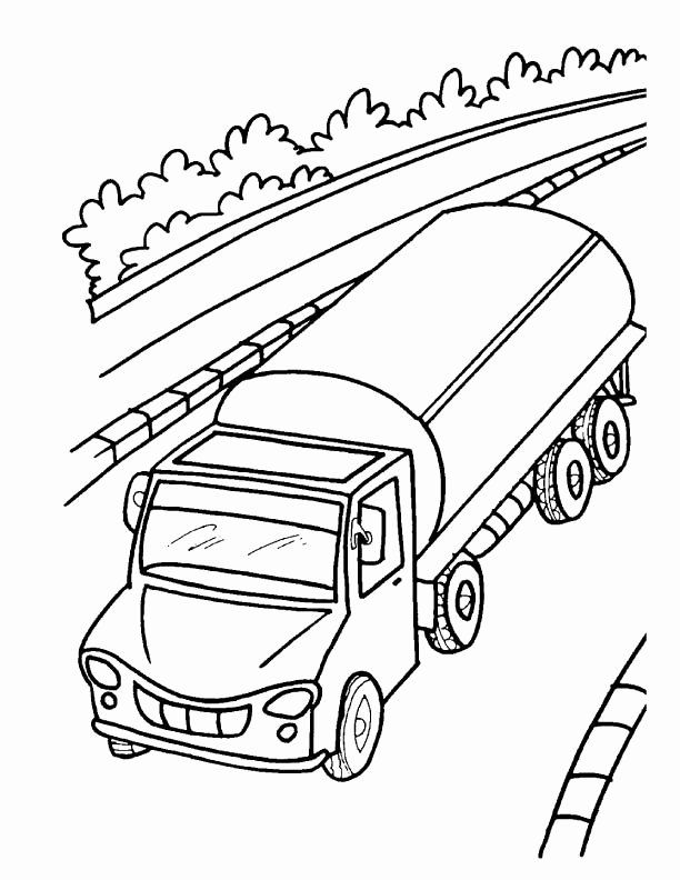 Construction Vehicle Coloring Pages Best Of Oil Tanker Truck Coloring Page Truck Coloring Pages Coloring Pages Tanker Trucking