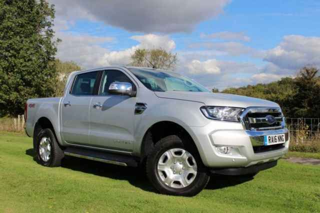 2016 16 FORD RANGER 2.2 LIMITED 4X4 DCB TDCI 1d AUTO     158 BHP      £23 995 +VAT      100 miles      Silver      Diesel      Automatic      2.2 L      35.0 Avg. MPG      Ins. Group: --      209 CO² (g/km)   Only 100 miles      Satellite Navigation      Reversing Parking Camera      6 Speed Automatic           Full Leather Upholstery      SALES: 01243 814 651 | 01243 814 223