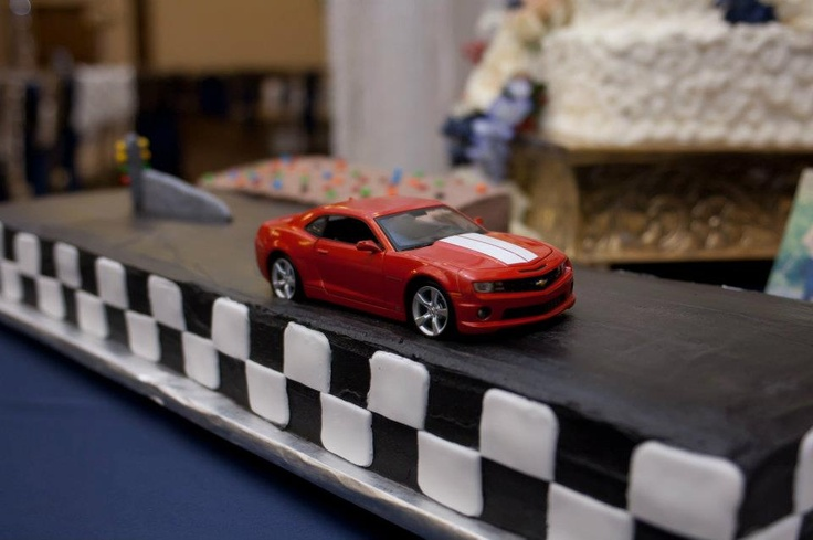Steven's grooms cake was an exact replica of his SS Camaro that he has worked on tirelessly since he got it - 586 horsepower and counting!